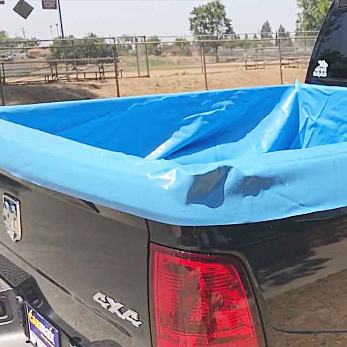 Awesome pool liner for your truck bed