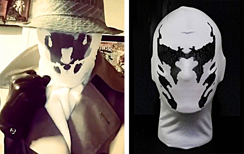 Best Cosplay Mask Ever | Moving Rorschach Inkblot Mask