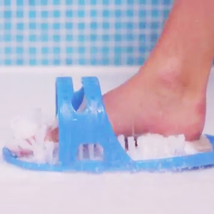 It Suctions To Any Part Of Your Shower. It Has A Pumice Stone So You Can  Scrub Off Dead Skin. You Will Never Have To Worry About Slipping. Check It  Out!
