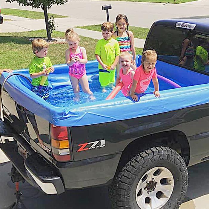 Pickup at the pool