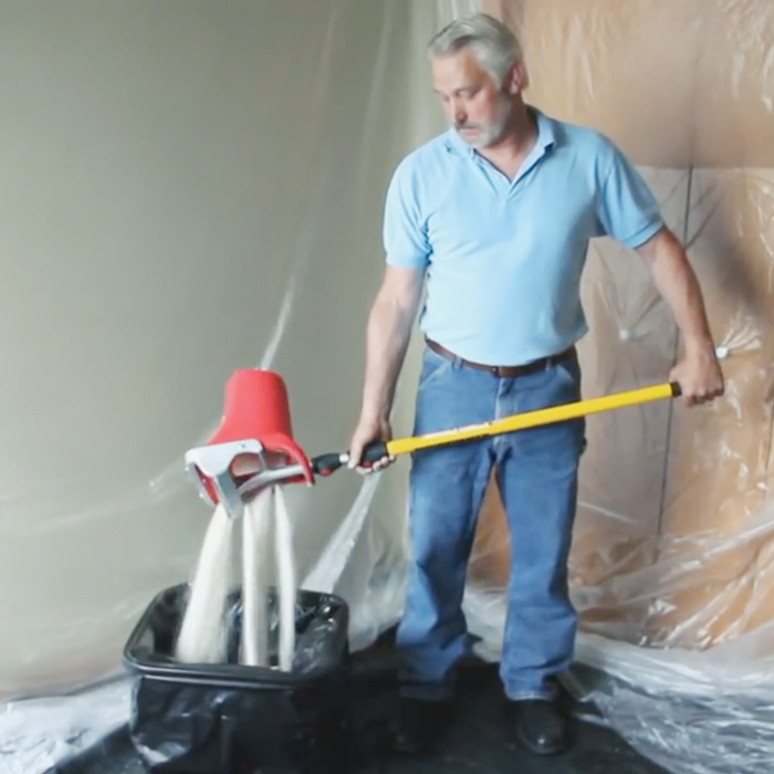satisfying popcorn ceiling remover
