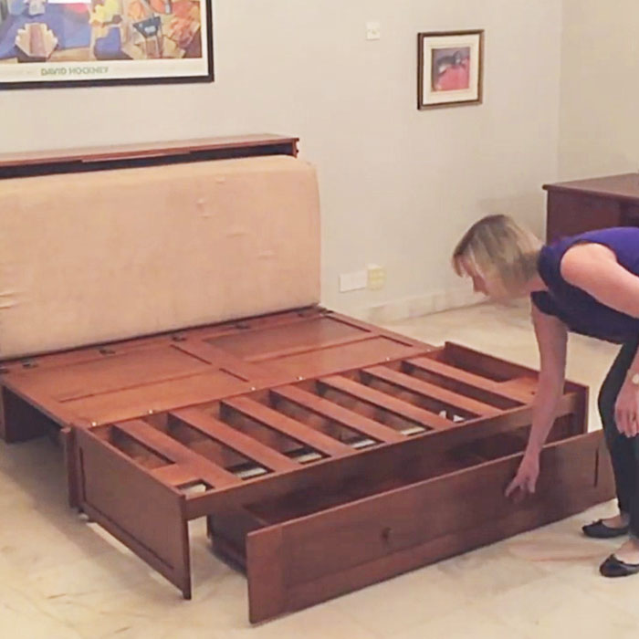 This Poppy Murphy Cabinet Bed is gives higher sleeping platform