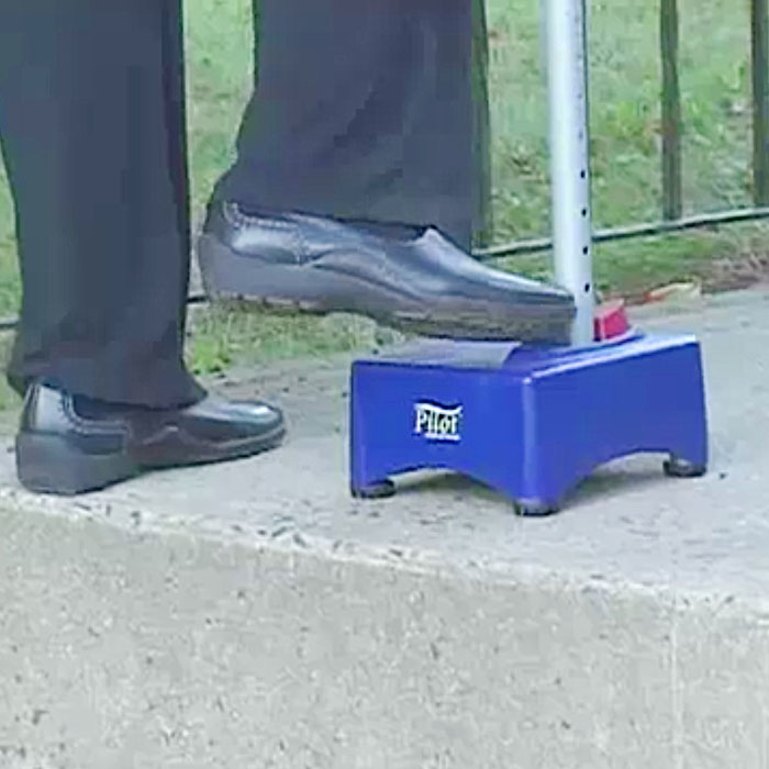 Pilot Step-Up Cane is helps elderly to climb the stairs.