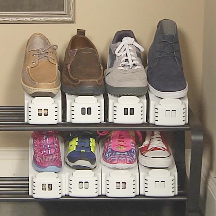 Shoe Slotz Storage Ideas For Small Closets