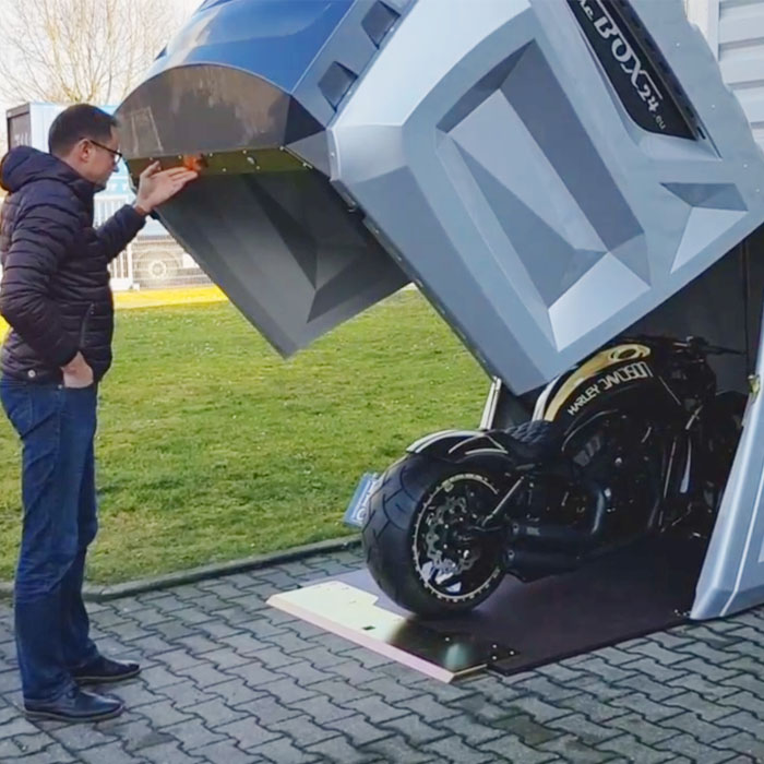 This the the safest Motorcycle Storage Shed