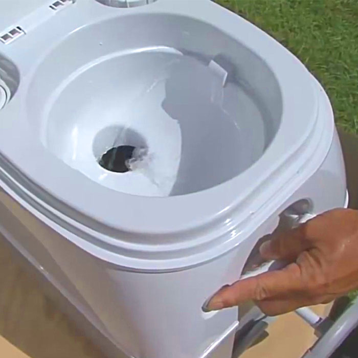 This portable toilet allows you to poop anywhere