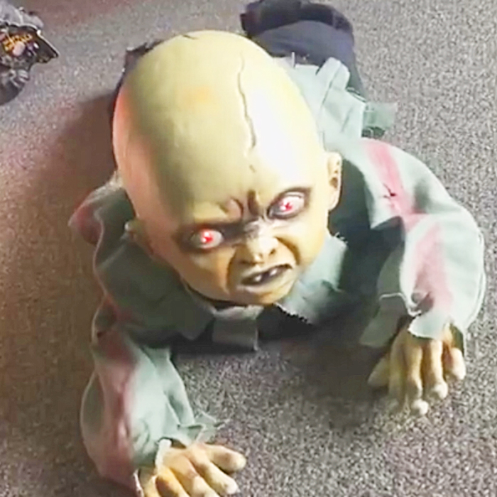 Crawling Zombie Baby Prop | Animated Halloween Props