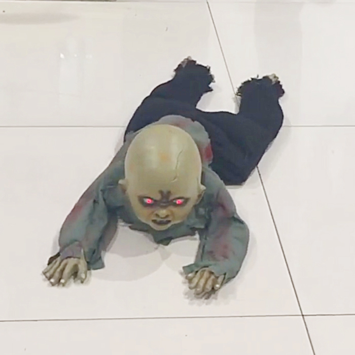 Crawling Zombie Baby Prop