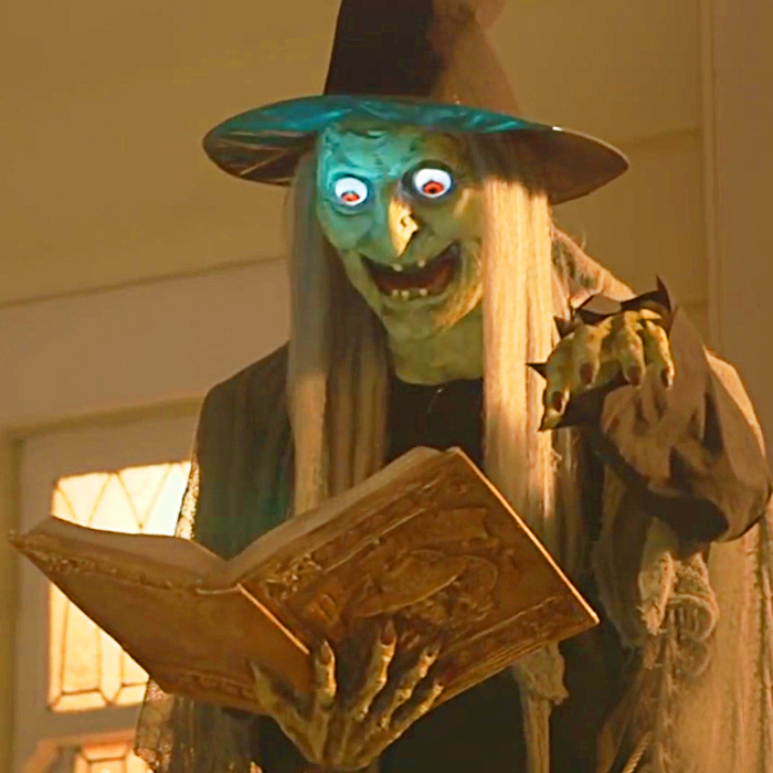 Life-size Animated Spell Casting Witch Figure