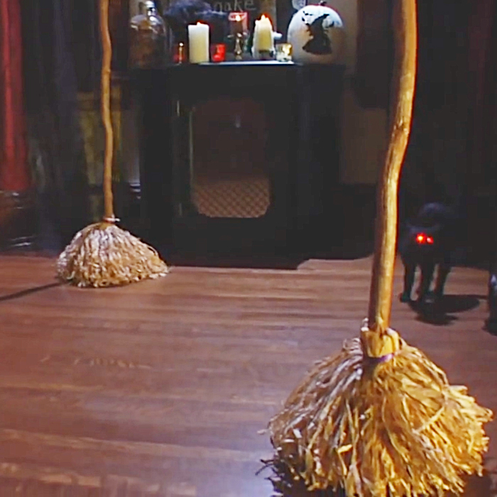 Robotic Witch Broom will be spooky