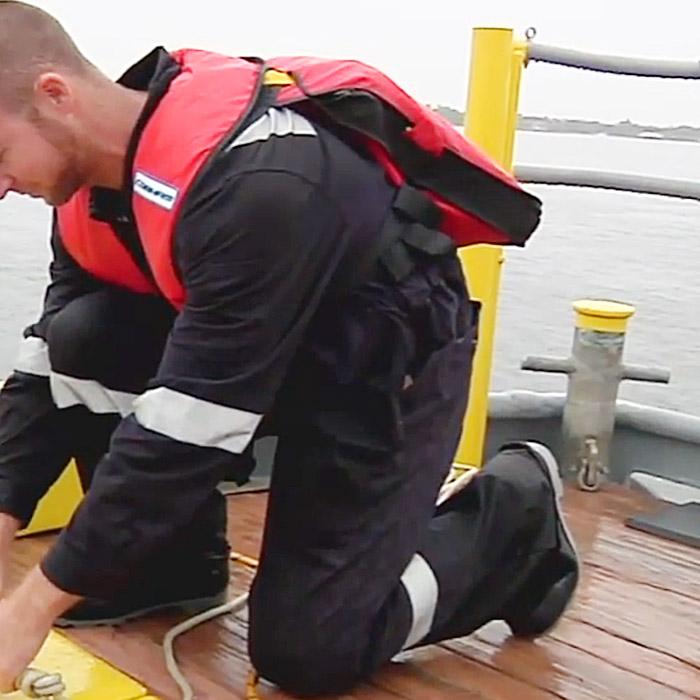 Cobham's Survivor+ personal overboard survival system