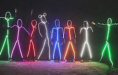LED Stick Figure Halloween Costume | Glowy Zoey