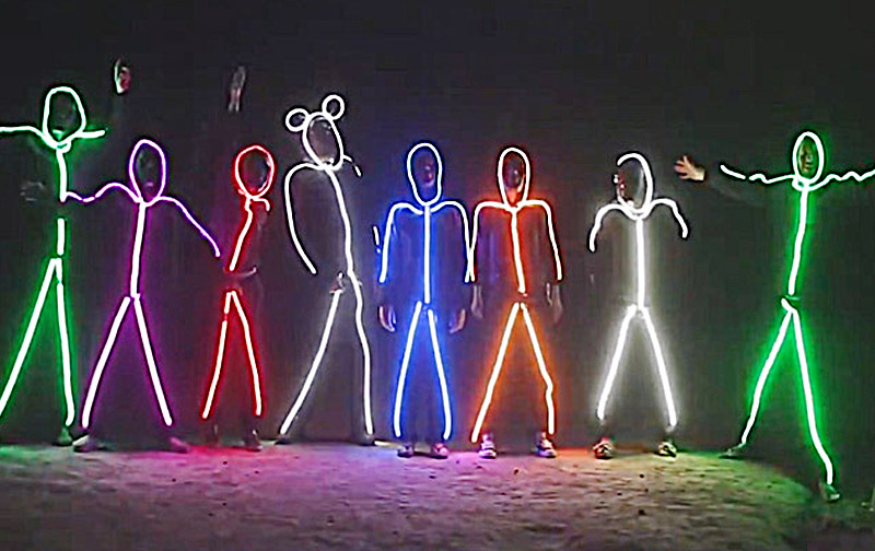 LED Stick Figure Halloween Costume | Glowy Zoey