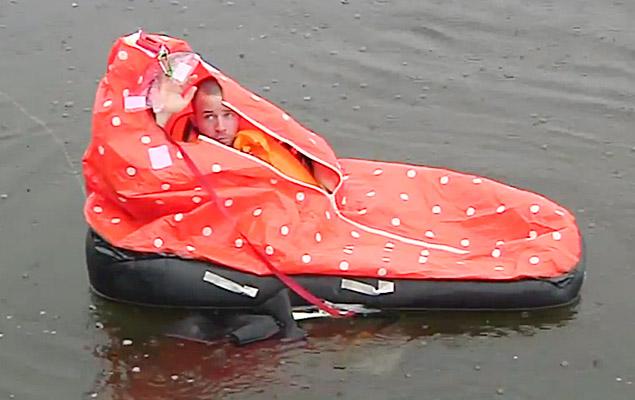 Wearable Survival Raft