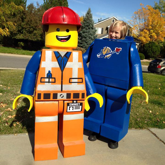 diy lego man halloween costume