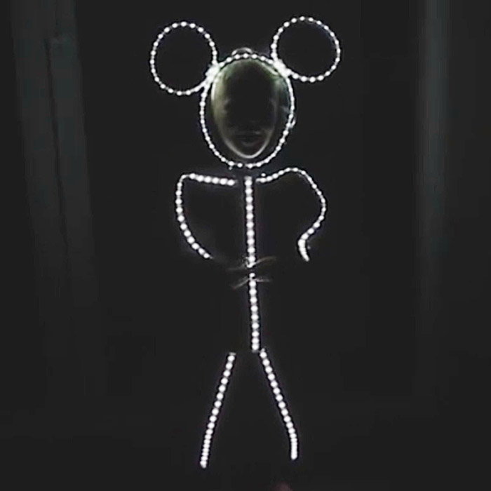 led stick figure costume