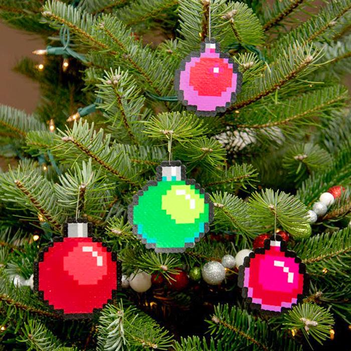 8 Bit Pixel Art Christmas Ornament