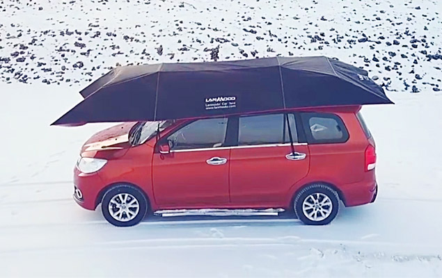 Car Umbrella | This Automatic Umbrella is a Portable Car Tent | Lanmodo