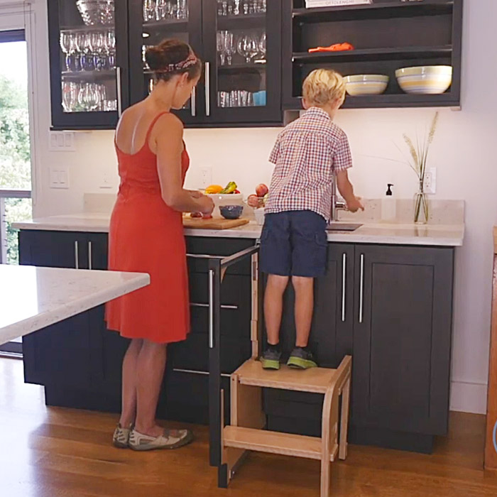 Wondrous Folding Step Stool That Pulls Out From A Cabinet Thesuperboo Unemploymentrelief Wooden Chair Designs For Living Room Unemploymentrelieforg