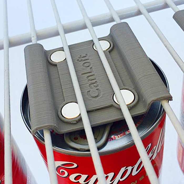 Magnetic Can Hangers Save Space