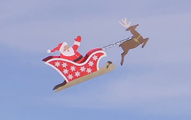 Remote Controlled Flying Santa
