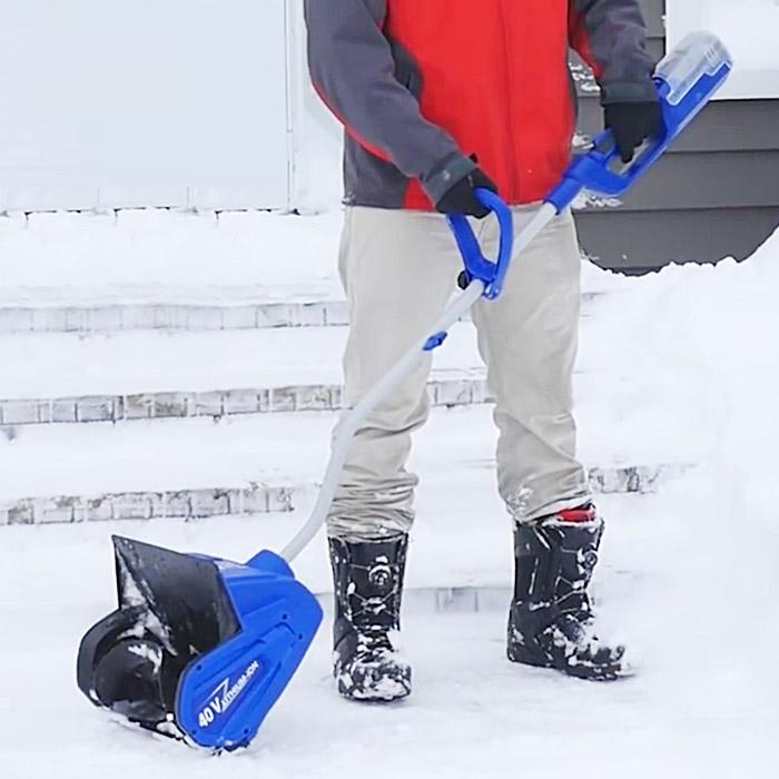 battery powered snow blower