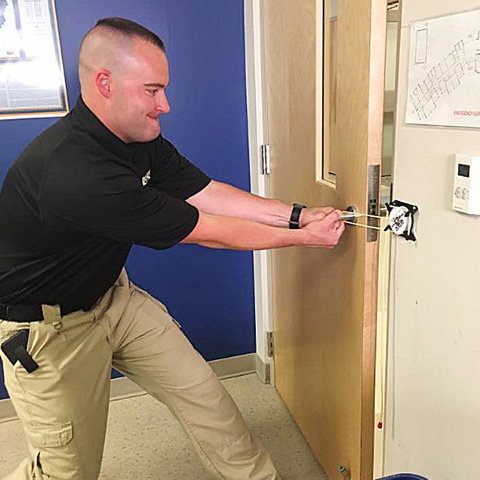 emergency door lock for schools
