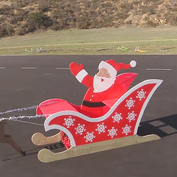 flying santa sleigh