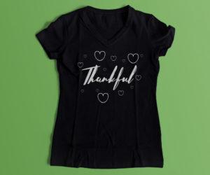 thankful black shirt