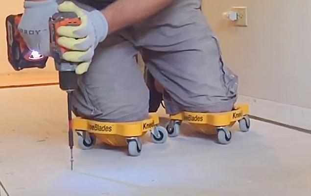Knee Blades | Flooring Knee Pads With Wheels