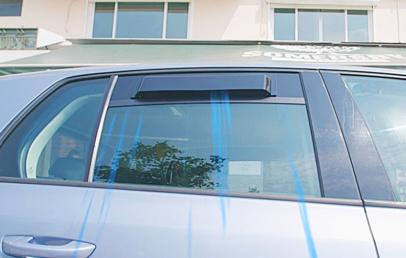 Easily Reduce Heat in Parked Car   Solar Powered Car Ventilation Fan