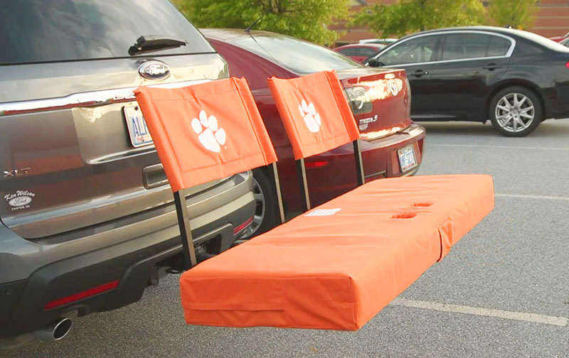 Rivalry   Folding Tailgate Hitch Seat and Cargo Carrier