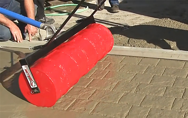 Easy Concrete Stamp Roller | Stamped Concrete Tools