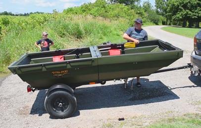 TetraPOD | This Trailer Turns Into a Boat | Trailer Jon Boat Combo