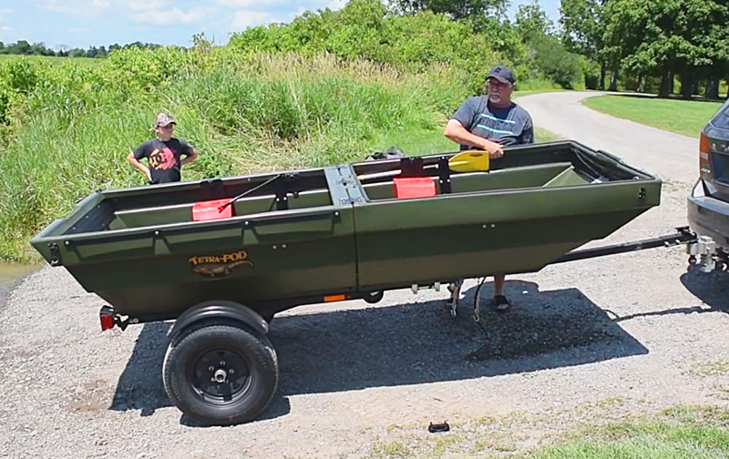 TetraPOD | This Trailer Turns Into a Boat | Trailer Jon Boat Combo