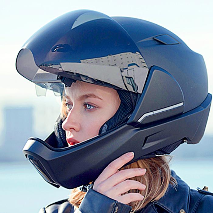 motorcycle helmet heads up display