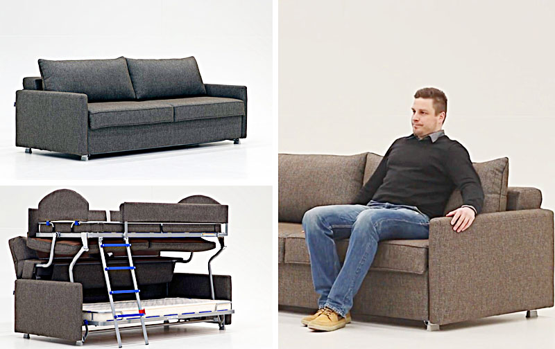 Best Sofa To Bunk Bed | Clever Space Saving Furniture