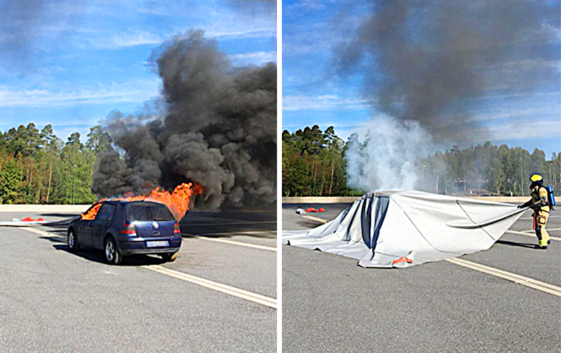 Bridgehill | Car Fire Blanket | Eco-Friendly Fire Extinguisher Blanket