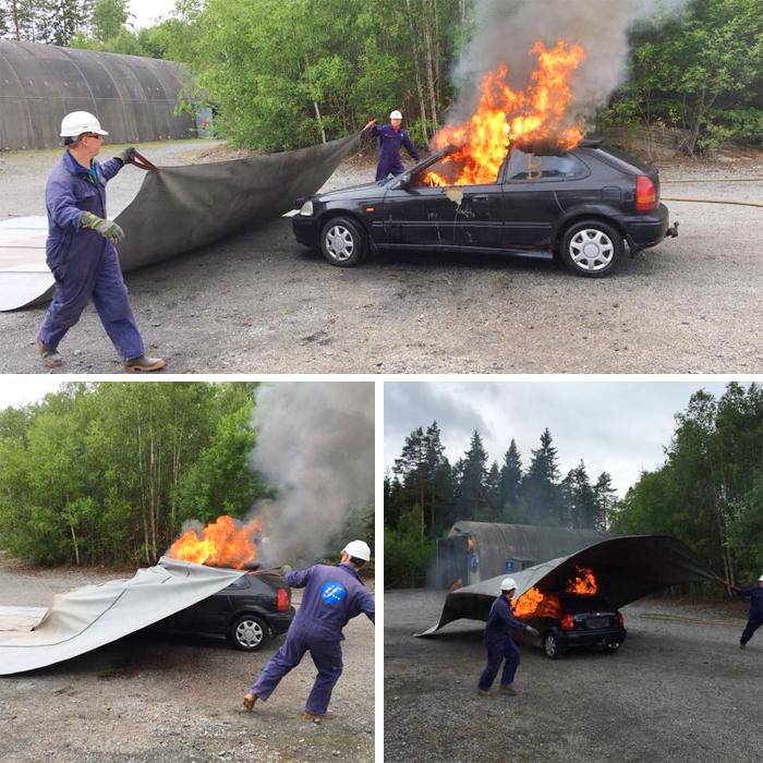 Car Fire Blanket