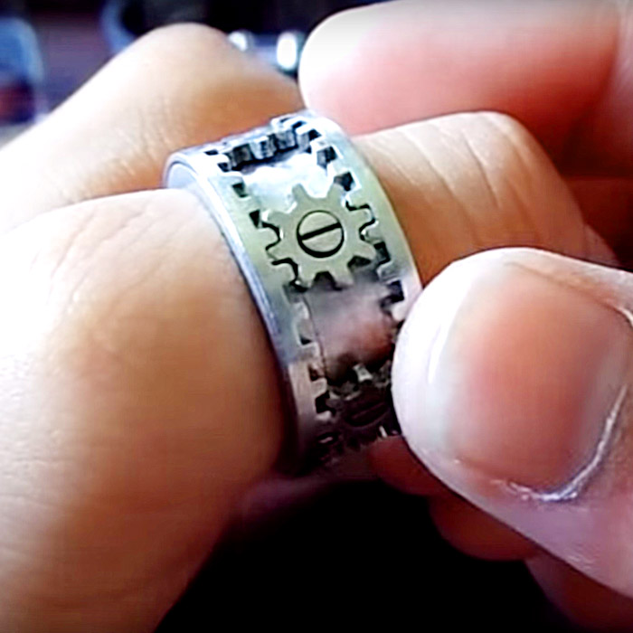 cool rings for men Moving Gears Ring