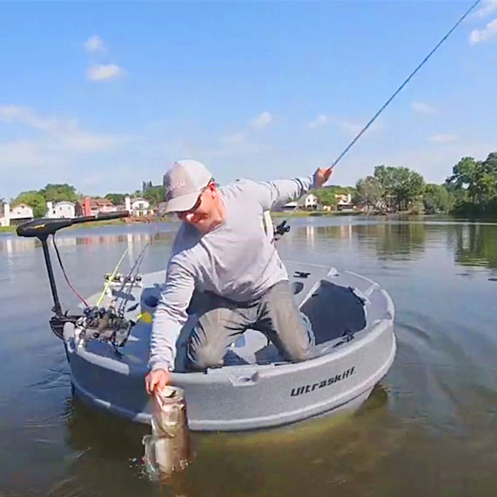 Portable & Personal Round Fishing Boat