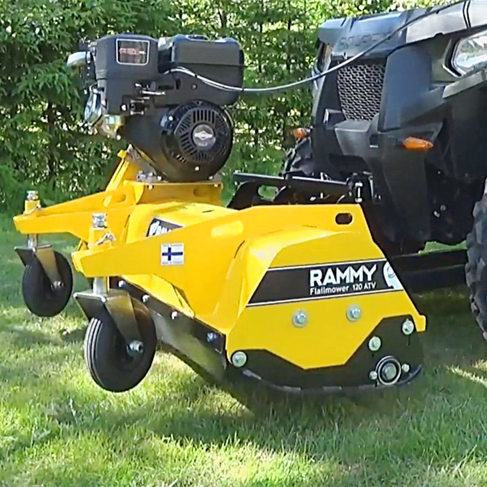 Rammy Lawn Mower ATV Attachment