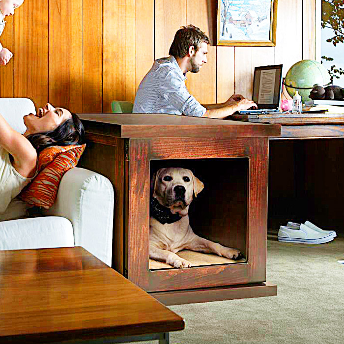 modern dog crate -The Smart Anti-Anxiety Dog Crate