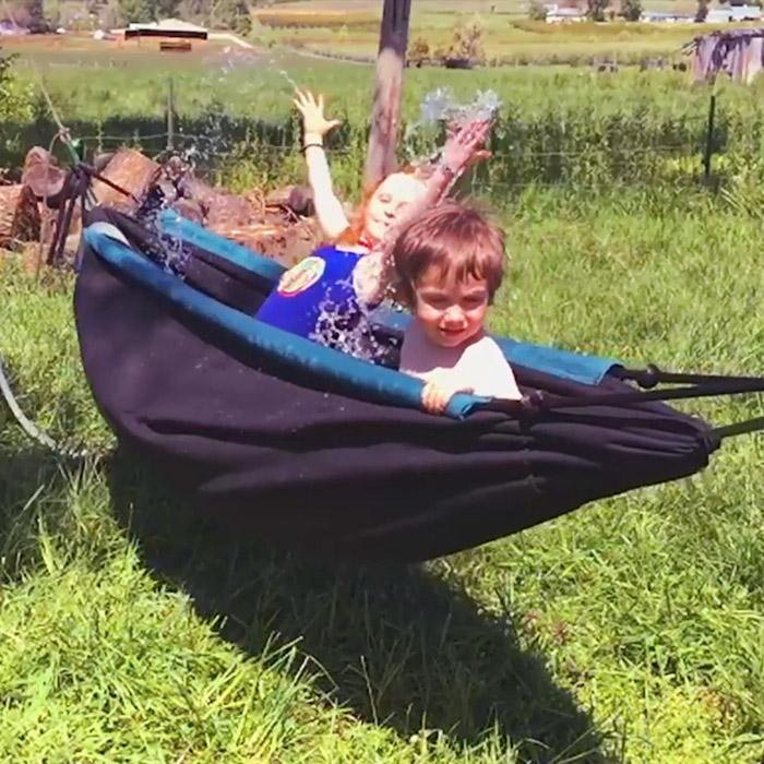 portable hot tub hammock