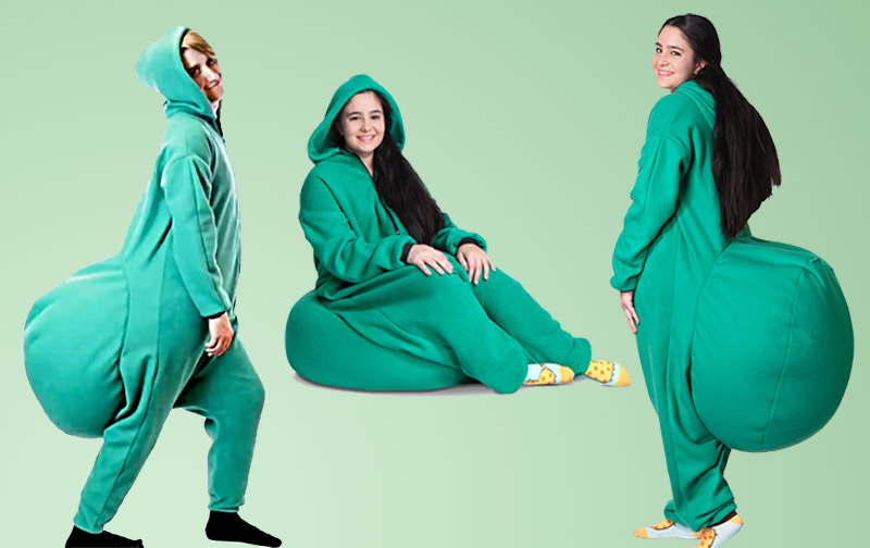 With Bean Bag Onesie You Can Sit Almost Anywhere