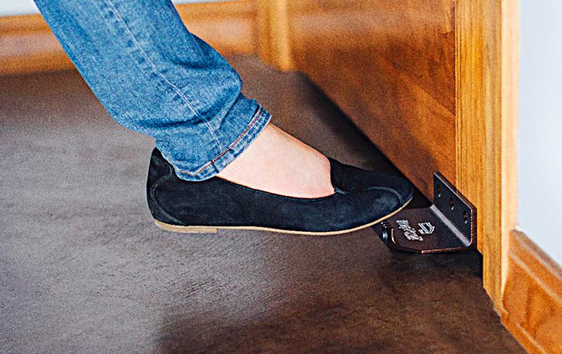 Unique Foot Door Opener To Avoid Door Knob Germs StepNpull