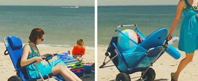 2-in-1 Beach Lounger | This Folding Beach Chair Turns Into a Beach Cart