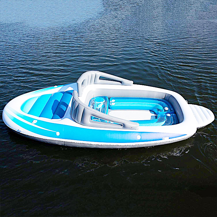6 Person Inflatable Speed Boat Floating Island