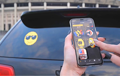 Car Rear Window Digital 3D Emoji Display | Voice Controlled