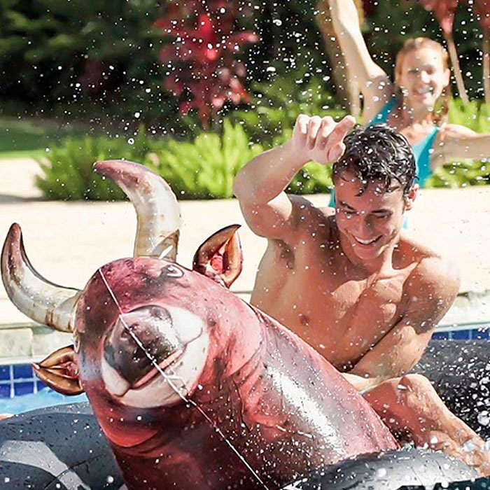 Inflatable Bull Riding Pool Toy
